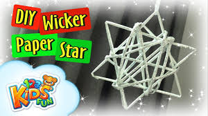 diy by creative mom how to make paper wicker star christmas