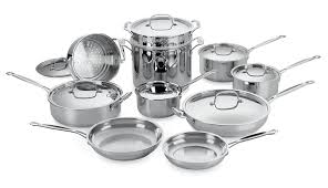 kitchen essential cuisinart chef u0027s classic 17 piece cookware set stainless steel