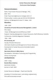 resume hr manager resume sample doc human resources example