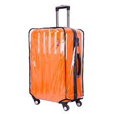 Bluecosto clear oversize travel luggage protectors suitcase cover