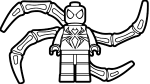 lego iron spiderman coloring page coloring book kids fun art for