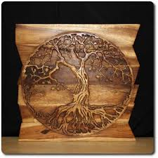 wall design ideas tree of wood carving wall