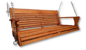red oak wood porch swing with chain hanging kit hand rub oil