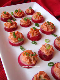 dining canapes recipes radish canapes with smoked salmon mousse dining recipe how