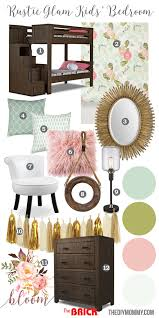 Girls Rustic Bedroom Rustic Glam Girls Bedroom Mood Board Featuring Gold Blush Pink