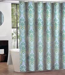 amazon com tahari izmir fabric shower curtain blue green yellow