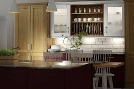Light Oak Kitchen Shaker Light Oak Timber Winter White Kitchen Wren Kitchens