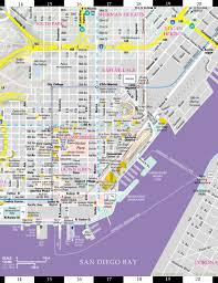 Chicago Trolley Map by Streetwise San Diego Map Laminated City Center Street Map Of San