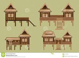 Home Design Vector Free Download Thai House Design Stock Vector Image 57151933