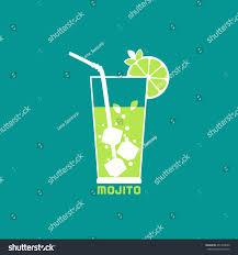 lime slice silhouette drinks concept mojito flat design icon stock vector 461990620
