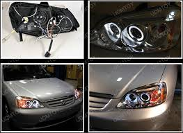 honda civic headlight 01 03 honda civic chrome halo projector led headlights