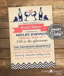 custom bridal shower invitations bridal shower invitation wine party engagement party vintage