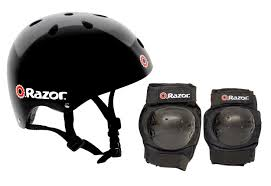 Dining Room Table Protective Pads by Amazon Com Razor Skater Child Helmet And Pad Set Combo Black
