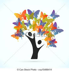 butterfly tree vector concept illustration vector clip search