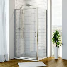 hydrolux 6mm 1600mm x 700mm sliding shower enclosure with side panel