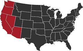 Western Us Map Service Area Herman Weissker Inc