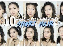 cute hairstyles for short hair quick cute hairstyles for short hair quick and easy hair latest