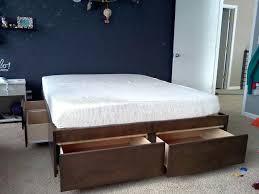 King Size Bed Platform King Size Drawer Bed Platform Bed With Drawers 8 Steps Pictures