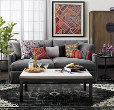 Orange And Grey Rugs Create Drama With Black Carpets And Rugs