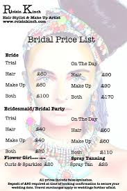 make up prices for wedding roisin kinch hair stylist and make up artist based in surrey and