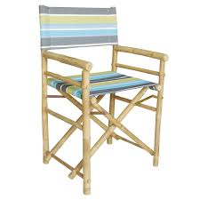 The Directors Chair On The Set Bamboo 18 Inch Standard Height Directors Chair With Stripe Cover