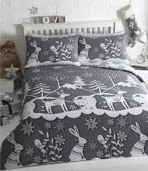 Superking Duvet Sets Superking Duvet Set Grey Christmas Bedding Winter Wonderland Super