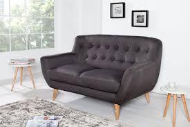2 er sofa retro designklassiker 2er sofa scandinavia meisterstück anthrazit