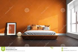 orange bedroom stock photo image of apartment decor 45531604