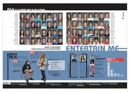 class yearbooks top half class portrait page bottom half story yearbook