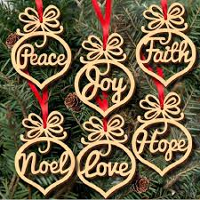 christmas decorations wholesale wholesale christmas letter wood heart pattern ornament