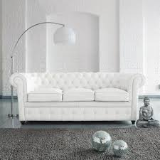 canap chesterfield blanc decoration canapé chesterfield blanc ladaire salon moderne