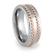 mens titanium rings titanium and tungsten rings unique men s wedding bands 90 day