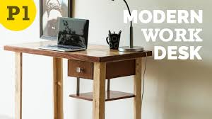 modern style work desk u2013 how to build youtube
