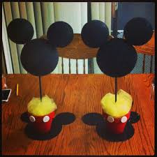 mickey mouse center pieces mickey mouse birthday party centerpieces easy cheap adorable