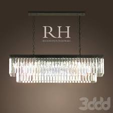 Rectangle Chandeliers Rh 1920s Odeon Glass Fringe Rectangular Chandelier Small Iron