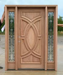 wood and glass front doors exterior wood doors with wrought iron glass sidelights