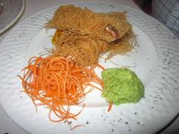 concerto en cuisine caribbean phyllo crusted prawns w guacamole mango salsa picture