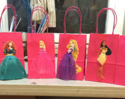 princess candy bags disney princesses 6 birthday party favor bags birthday party