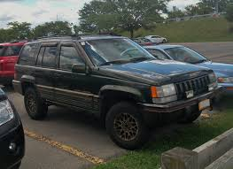 gold jeep cherokee file 1995 jeep grand cherokee orvis edition jpg wikimedia commons