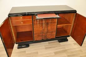 Curved Sideboard Highgloss Art Deco Commode With Curved Doors Original Antique