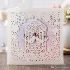 cheap wedding invitations packs invitation cards with birdcage design wedding cards laser cut card