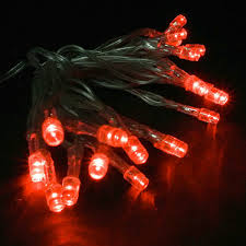 battery powered cl light battery operated 20 led string light set red clear cord led