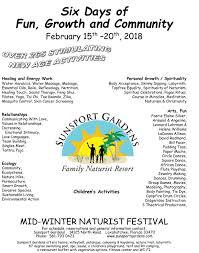 Sunsport Gardens Family Naturist Resort - mwf 2018 poster u2013 sunsport gardens