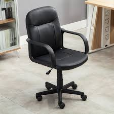 Modern Leather Office Chairs Amazon Com Belleze Mid Back Office Chair Pu Leather Ergonomic