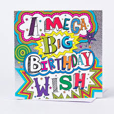 big birthday cards birthday card mega big wish only 99p