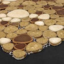 Beautiful Porcelain Pebble Tile For Bath  Backsplash Porcelain - Pebble backsplash