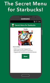 starbucks app android secret menu for starbucks android apps on play