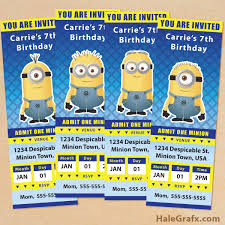 diy minion invitations excellent diy minion birthday invitations amid inspirational