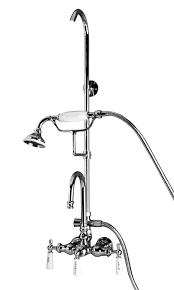 Clawfoot Tub Faucet With Diverter Barclay Clawfoot Tub U0026 Shower Faucet Kits