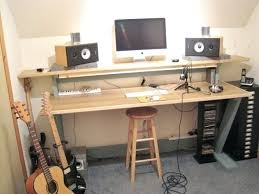Diy Studio Desk Desk Grande Model Home Recording Studio Desk With Power Up Cable